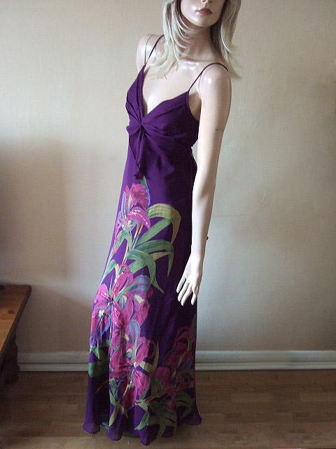 Karen Millen Purple Tropical Sequin Embelished Maxi Dress