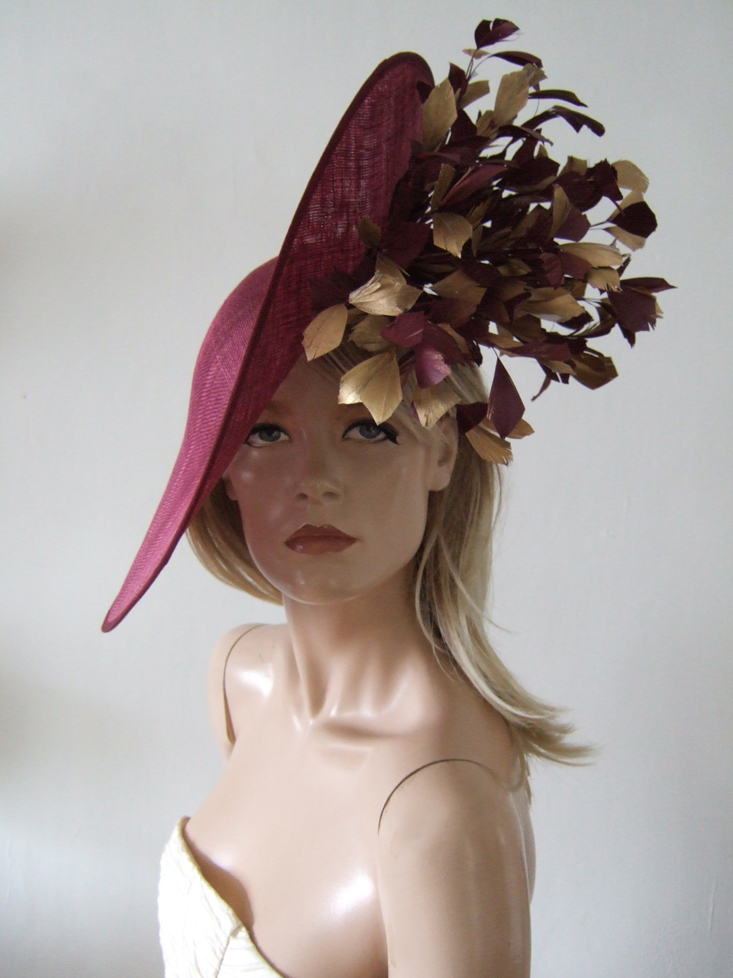 Wedding Guest Hats for Hire near London. Royal Ascot Hat Rental 2021. Hats for Royal Ascot 2021. Hire Hats for Wedding Guests UK. Best Royal Ascot Hats 2021. Burgundy Hats for Hire 2021. Amazing Royal Ascot Hats 2021. Burgundy Royal Ascot Hats. Hats to wear with a Burgundy dress. Formal Wedding Hats for Hire UK 2021. Amazing Hats for the Races 2021. Burgundy Mother of the Bride Hats for Hire 2021.