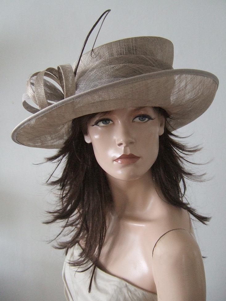 Dress-2-Impress.com - Vivien Sheriff Taupe Hat 77de9527270