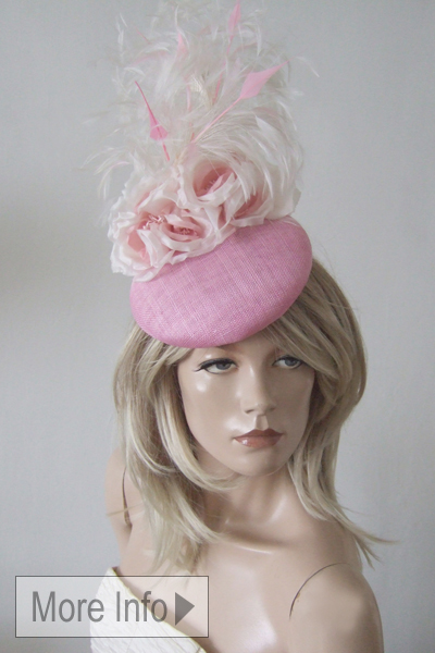 Candy Pink Hat for Hire. Ascot Hat Hire, Hats for Royal Ascot, London Hat Hire
