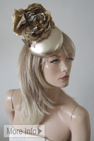 Philip Treacy Gold Hat. Ascot Hat Hire. Mother of the Bride Hats. London Hat Hire. Hat Hire Berkshire. Philip Treacy Hat Hire