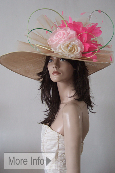 Nataliya Tutus Couture Big Royal Ascot Hat Hire, Ascot Hats