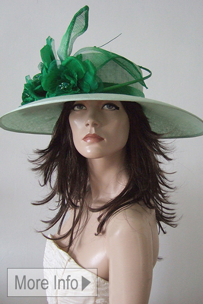 Mint and Emerald Green Royal Ascot Hat. Mother of the Bride Hats 2021. London Hat Hire. Hat Hire Berkshire. Royal Ascot Hats