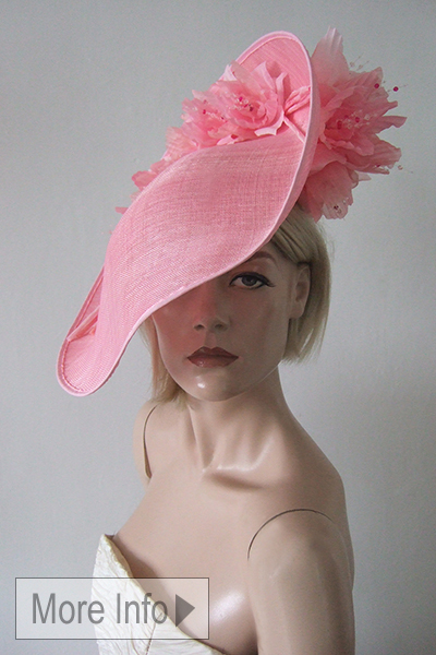 Pink Hat for Royal Ascot. Pink Floral Headpiece Hat. Ascot Hat Hire. Pink Mother of the Bride Hats. Pink Hat with Flowers. Hat Hire Berkshire. Pink Fascinators