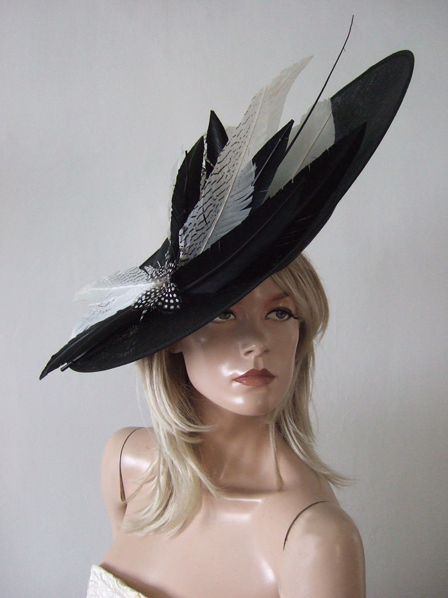 Best Hats for Royal Ascot, Big Hats for Royal Ascot 2020. Big Black and White Hats, Hats for Wedding Guests 2020, Mother of the Groom hats 2020, Hat Hire for Royal Ascot Races, What to wear for Royal Ascot 2020, Royal Ascot Outfit ideas 2020