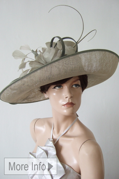 Whiteley Pewter Picture Hat. Ascot Hat Hire. Hats for Ascot. Mother of the Bride Hats