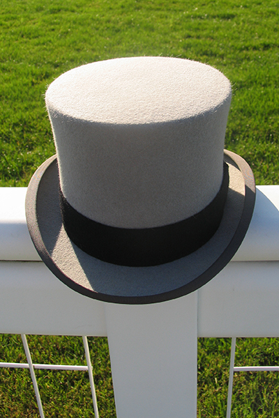 8b7dd362e78 Grey Wool. Sizes 55cm (6 3 4)- 62cm (7 5 8). Mens Top Hat Hire. Silk Top  Hats for Royal Ascot. Vintage ...