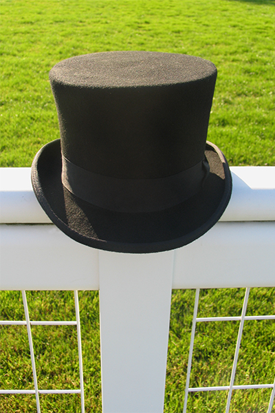 aa866348866 Black Wool. Sizes 56cm (6 7 8)- 63cm (7 3 4). Top Hats for Ascot. Mens Top  Hat Hire.