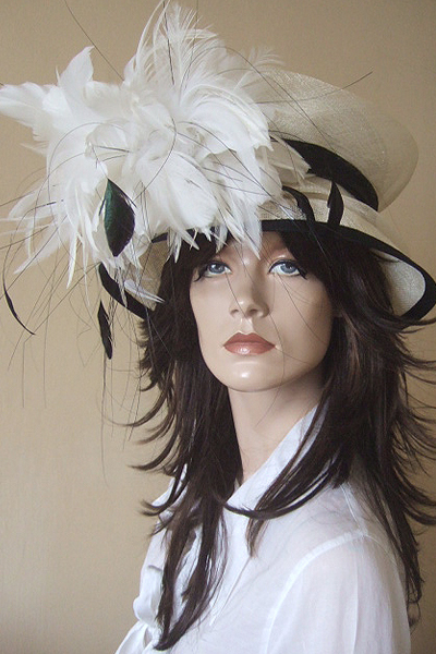 Cream Ivory White Hat Hire for Ascot or Other events. Mother of the Bride Hats