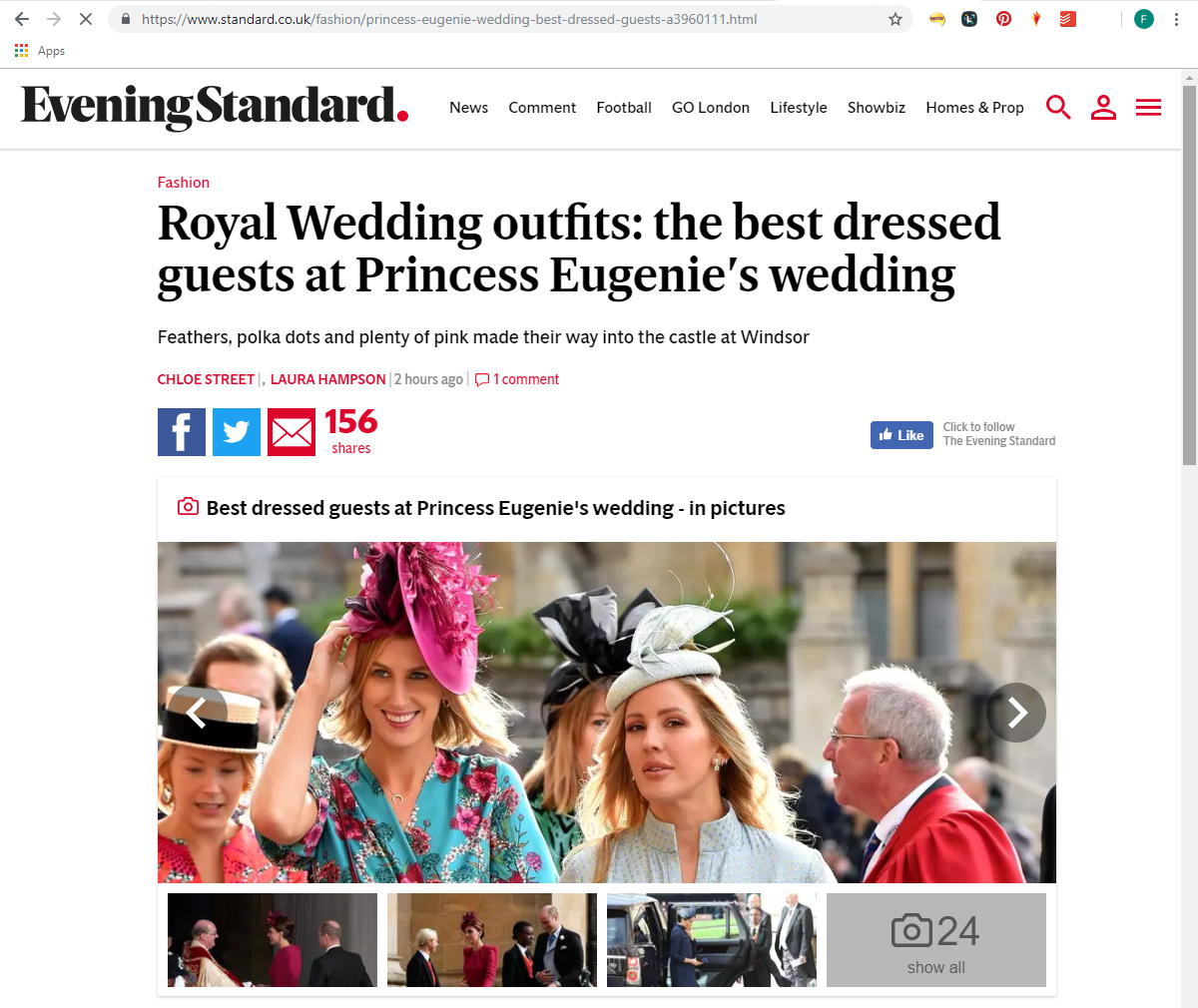 Evening Standard Best Dressed Guests at Princess Eugenies Wedding. What to wear to an Autumn Wedding. Royal Wedding Guests. Wedding Guest Outfits for Autumn Wedding