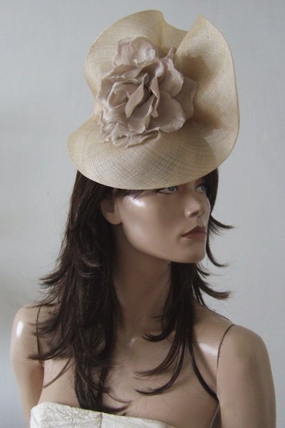 Gina Foster Flower Hat. Ascot Hat Hire. Mother of the Bride Hats
