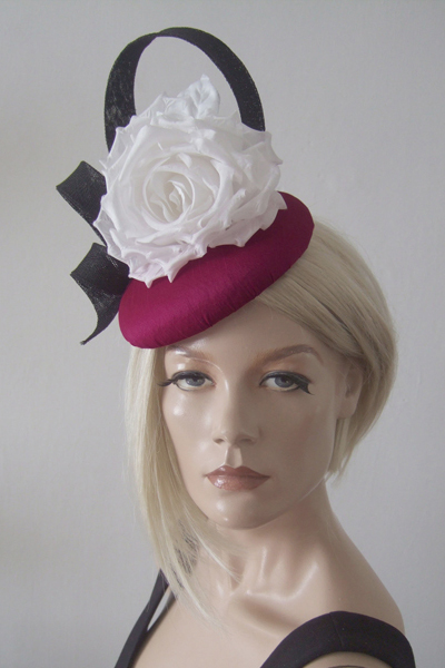 Olivia Roat Hat for Hire. Ascot Hat Hire, Hats for Royal Ascot, London Hat Hire