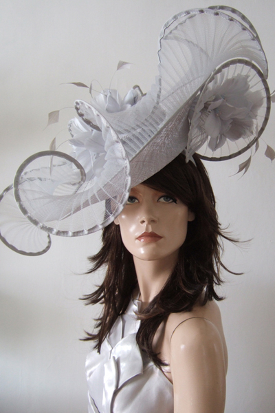 Peter Bettley Big Silver Hat. Hats for Royal Ascot. Hats for Goodwood Races.