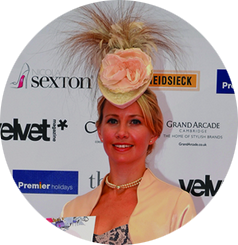 Designer Hat Hire for Newmarket Races. Came 2nd in Best Dressed Lady Competition.