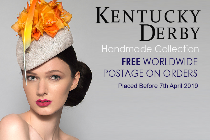 Kentucky Derby Designer Hats. Hat for the Kentucky Derby with Free Postage Worldwide. Kentucky Derby Outfits. #derbyoutfits #kentuckyderby #kentuckyderbyhats