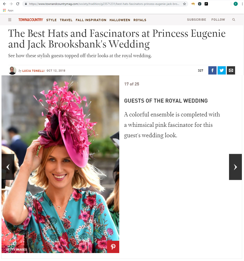 Town and Country Best Dressed Guests at Princess Eugenies Wedding. What to wear to an Autumn Wedding. Royal Wedding Guests. Wedding Guest Outfits for Autumn Wedding
