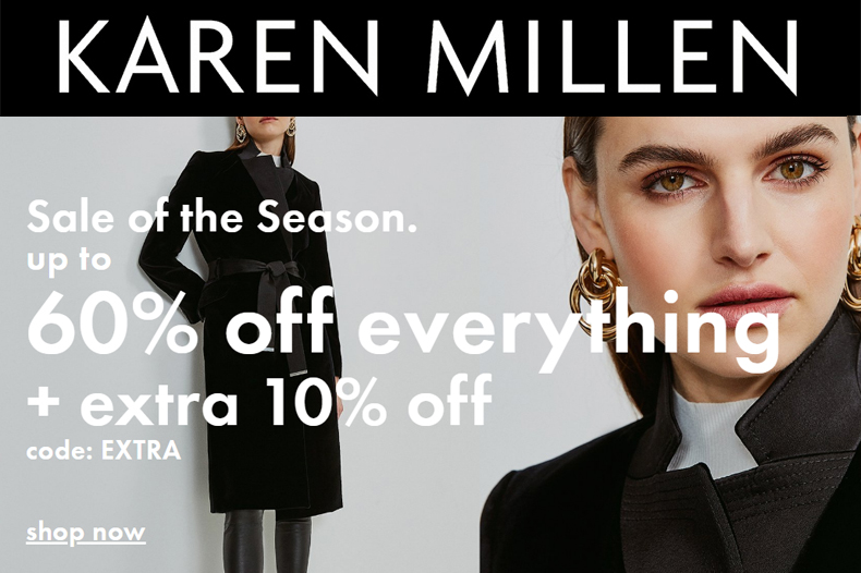 Karen Millen Sale Christmas 2020. Buy Karen Millen Online 2020. Karen Millen Black Friday Sale 2020. Special Offers from Karen Millen.