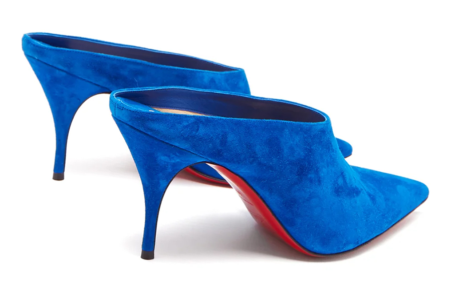 Christian Louboutin Blue shoes 2020. Designer Bright Blue shoes. Blue shoes for summer wedding guests 2020. Bright Blue Shoes for Royal Ascot 2020. Blue mother of the bride shoes 2020. Shoes to wear with a Blue dress.