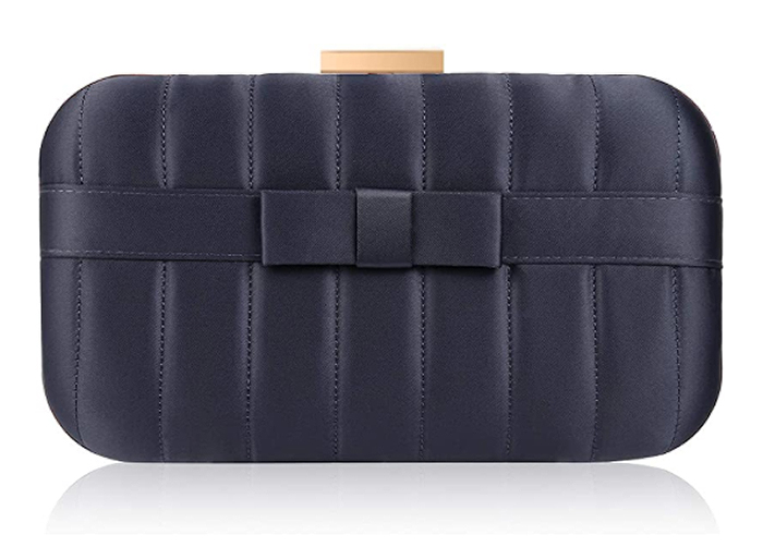 Navy Satin Clutch Bag. Navy Mother of the Bride Clutch Bag 2021. Navy Satin Bags 2021. Navy coloured Clutch Bag for Weddings. Navy Bridesmaids Bag 2021. Bag to wear with a Navy Dress 2021. Bag to wear with a Navy Hat 2021.