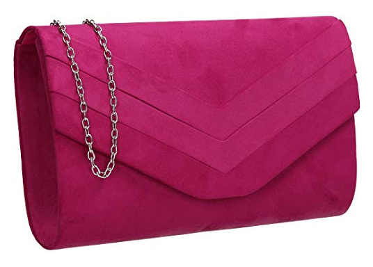 Fuchsia Pink Clutch Bag. Hot Pink Clutch Bags 2021. Bright Pink Clutch for Royal Ascot. What to wear with a Pink Dress. Hot Pink Mother of the Bride Bags 2021.