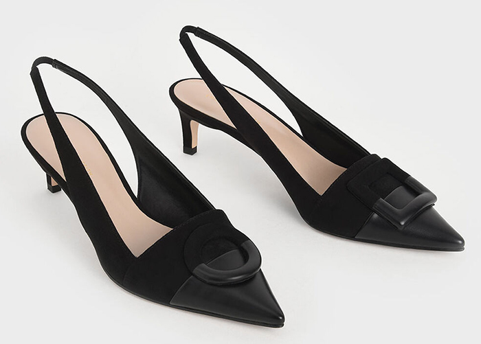 Fashionable Black Shoes 2020. Ladies Black Court Shoes Autumn 2020. Shoes for Spring wedding guests 2021. Black Shoes for the Races 2020. Black Medium Heel Shoes 2020. Shoes to wear with a black and white dress.
