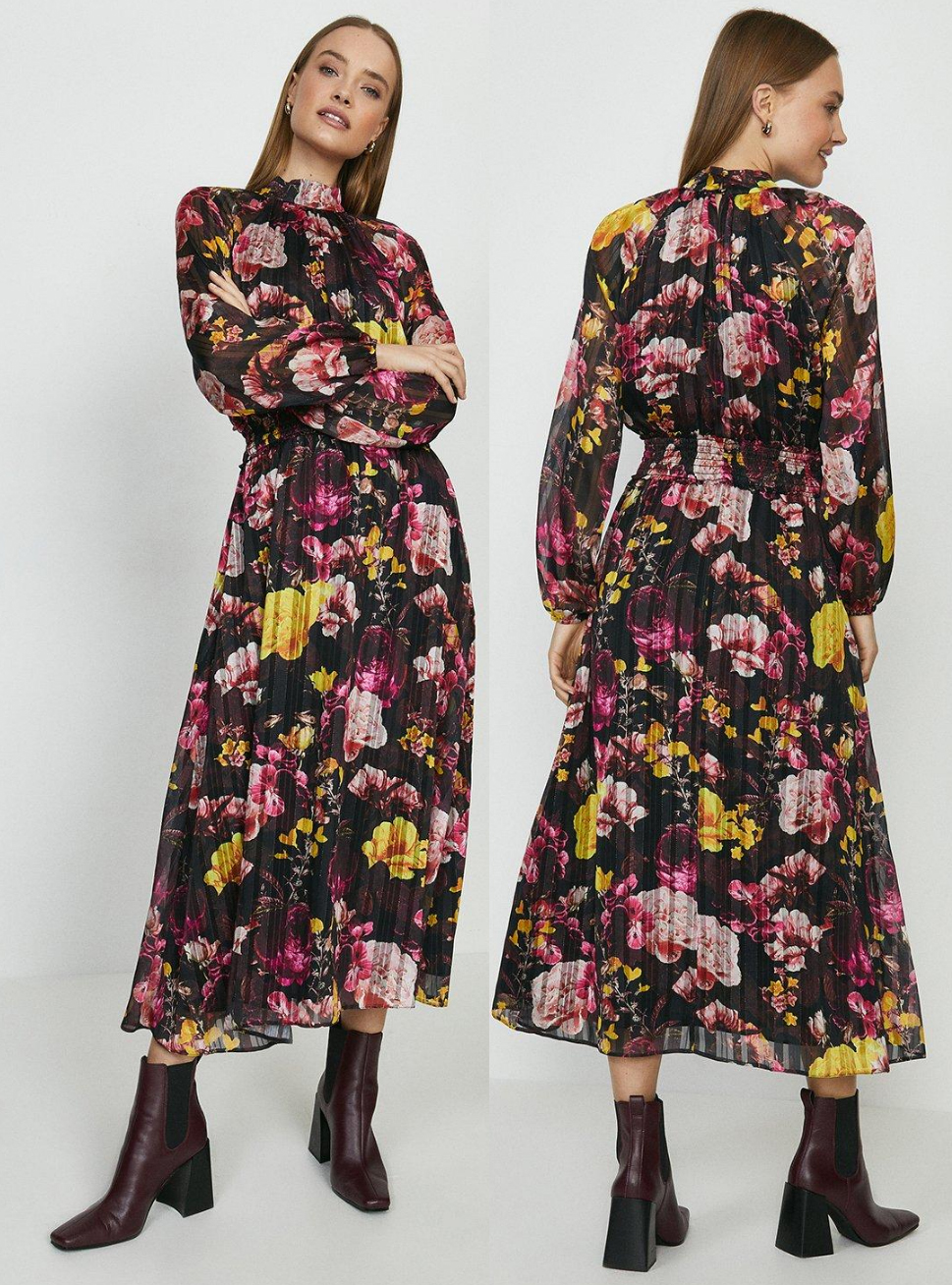 Yellow and Pink Floral Dress. Floral Dress for a Summer Wedding Guest 2021. What to wear to a Summer Wedding 2021. Coast Floral Dress 2021. Floral Dress for the races 2021. What to wear to the Races 2021. Royal Ascot outfit ideas 2021. What to wear for Royal Ascot 2021.