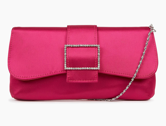 Fuchsia Pink Clutch Bag. Hot Pink Clutch Bags 2021. Bright Pink Clutch for Royal Ascot 2021. What to wear with a Pink Dress. Fuchsia Pink Mother of the Bride Clutch Bag 2021. Hot Pink Mother of the Bride Bags 2021.