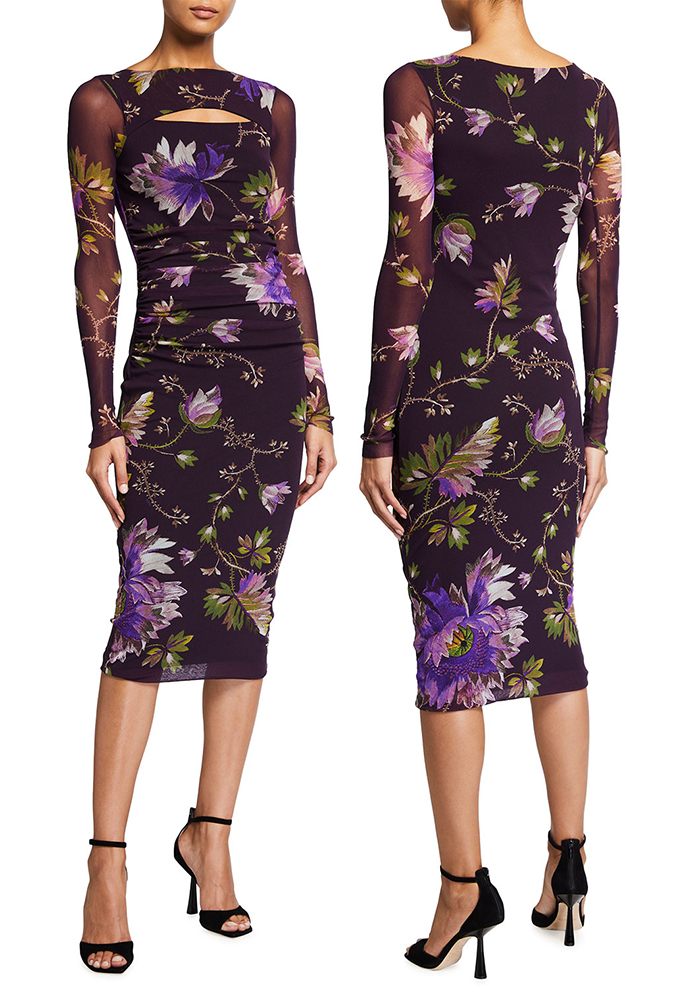 Purple Floral Dress 2021. Fuzzi Peek-A-Boo Dress 20201. Dress for Royal Ascot 2021. Dress for the Races 2021. Floral Dress for Spring wedding Guest 2021. Floral Mother of the bride Dress 2021. How to wear Purple. Lilac Dress for the Races 2021. Ladies wedding Guest outfits 2021. Lilac Mother of the Bride outfits 2021.