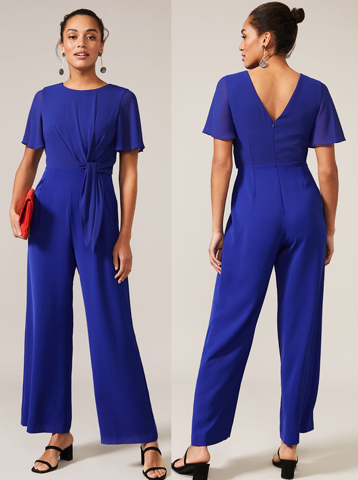 Royal Blue Jumpsuit. Royal Blue Jumpsuit for Royal Ascot 2021. Royal Blue Wide Leg Jumpsuit 2021. Royal Blue outfit for the races. Royal Blue outfit inspiration. Royal Blue Wedding Guest outfits 2021.