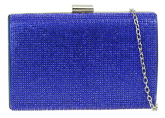 Bag to wear with Royal Blue Dress. Royal Blue Clutch Bag 2020. Royal Blue Mother of the Bride Clutch Bag. Blue Royal Ascot outfit ideas 2021. Blue Crystal Clutch Bag. Royal Blue outfit inspiration. Royal Blue Wedding Guest outfits 2021.