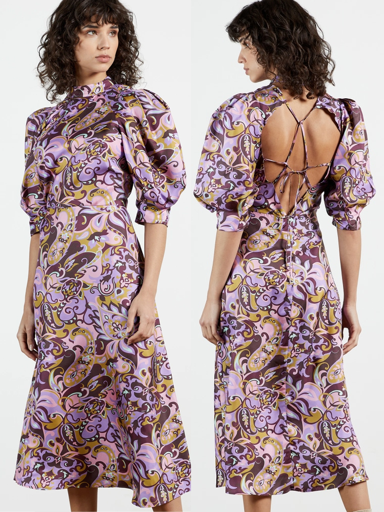 Ted Baker Silk Dress 2021. Lilac Dress for Spring wedding 2021. Lilac Dress for the Races 2021. How to wear Lilac. Lilac Dress for the Races 2021. Lilac Dress for Royal Ascot 2021. Spring wedding Guest Dress 2021. Lilac and Purple Dress 2021.