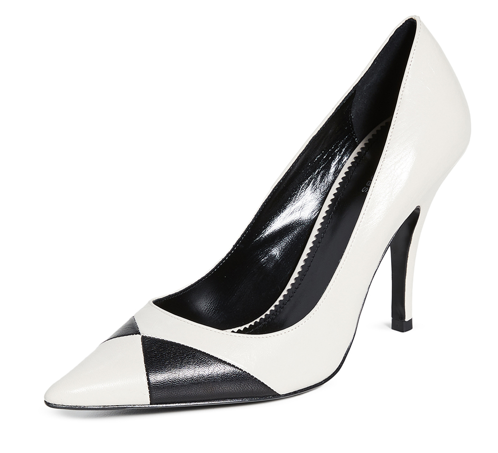 Marc Jacobs Black and White Shoes. What to wear with a Black and White Dress. Shoes for Ladies Day at the Races. Royal Ascot Outfit Ideas 2020. High Heel Black and White Shoes. Fun Shoes for a wedding guest. Black and White Shoes for Royal Ascot 2020. Shoes to wear for the horse races.