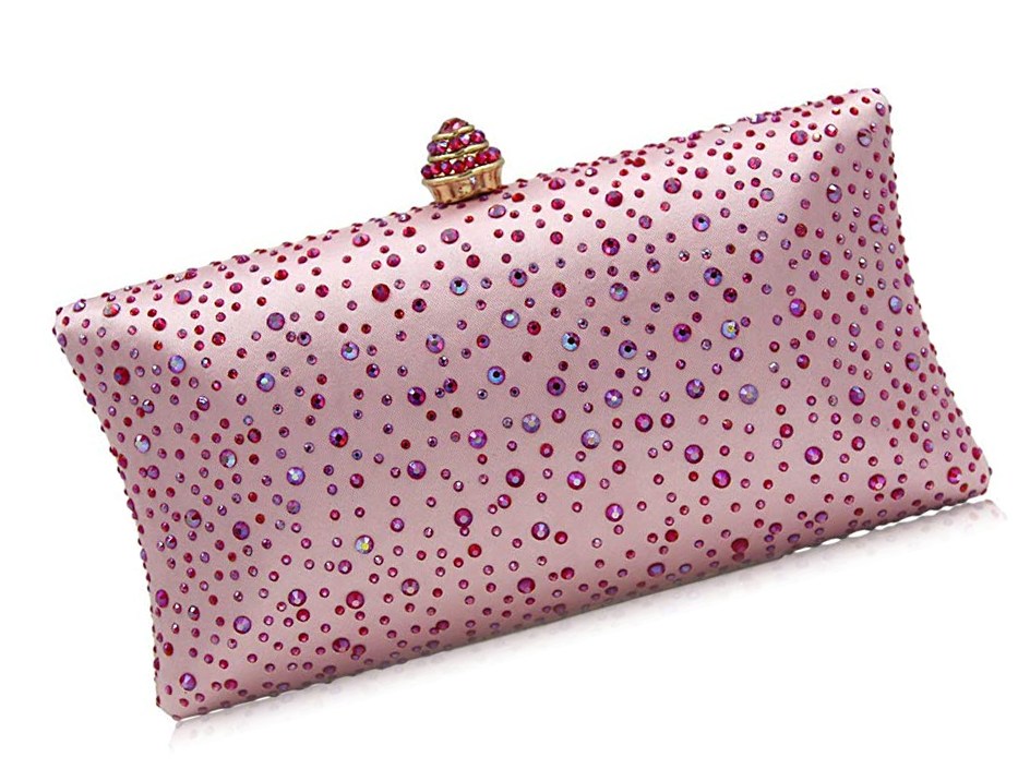 Pink Clutch Bag with Crystals. Cheap Pink Crystal Clutch Bag 2020. Cheap Clutch Bags for Spring weddings. Cheap Pink Mother of the Bride Bags. Pink Crystal Bag for Royal Ascot 2021. Pink Evening Clutch Bags 2020.