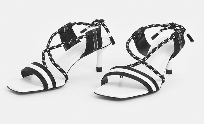 Black and white monotone Shoes 2021. Black white shoes for summer 2021. Black and white Shoes to wear to the races. Shoes to wear with a Black and white dress. Royal Ascot outfit ideas 2021. Shoes to wear with a white outfit.