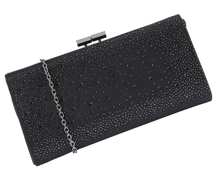 Black Clutch Bag with Crystal. Black Crystal Clutch bag 2020. Clutch Bags for Winter weddings. Mother of the Bride Winter Wedding Bags. Crystal Bag for New Years Eve Party. Black Evening Clutch Bags 2020.