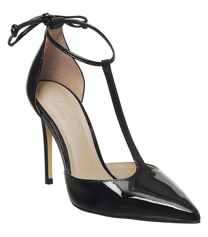 Black Patent Leather Shoes 2020. Black High Heel shoes for summer 2021. Black Shoes to wear to the races. Shoes to wear with a Black and white dress. Low Price Black High Heel Shoes. Shoes to wear with a white outfit.